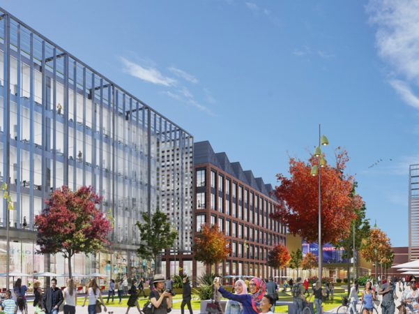 CGI artist's impression of how the new Birkenhead Town Centre may look